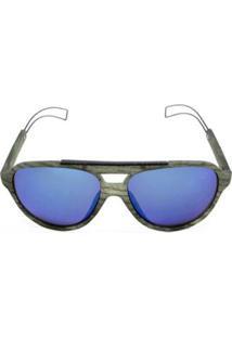 Óculos De Sol Khatto Aviador Tipo Masculino - Masculino-Cinza
