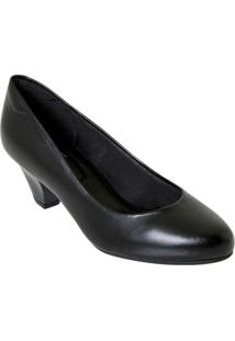 Sapato Modare Preto Em Sintético