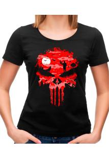 Camiseta Feminina Stand And Bleed Geek10 - Preto
