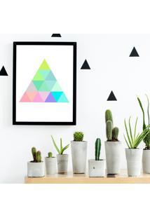 Quadro Decorativo Com Moldura Color Triangle Preto - 30X40Cm - Multicolorido - Dafiti