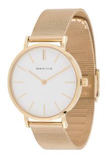 Bering Relógio Texturizado - Dourado