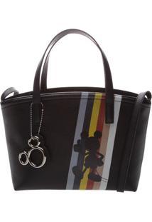 Bolsa Mickeyâ® Com Recortes & Bag Charm- Preta & Vermelhaarezzo & Co.