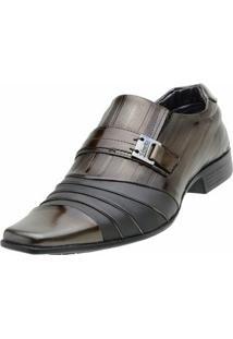 Sapato Social Venetto Verniz Topazzio - Masculino-Marrom