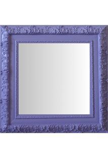 Espelho Moldura Rococó Externo 16359 Lilás Art Shop