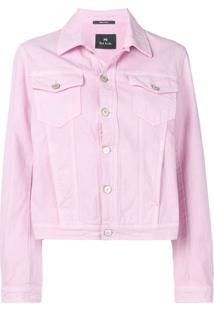 Ps Paul Smith Jaqueta Jeans - Rosa