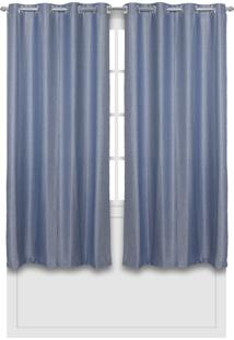Cortina Becadecor Floripa 2,00X1,80M Azul