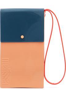 Bolsa Melissa Case Bag Nude/Azul