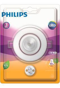Spot De Embutir Redondo Led 5W 2700K Amarelo Philips