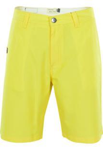 Bermuda Gajang De Sarja Amarelo