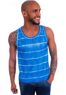 Camisa Brookside Regata Tie Dye Azul