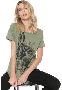 Camiseta Forum Floral Verde