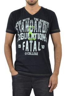 Camiseta Fatal Surf Standards Preto