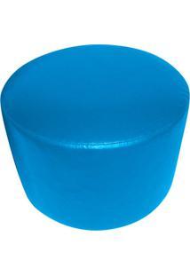 Puff Redondo Junior Corino Azul Royal