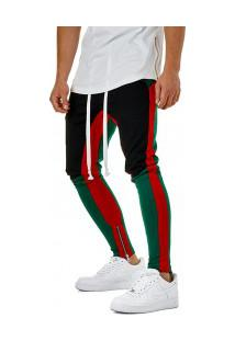 Calça Masculina Swag Unique Colors - Preto E Verde