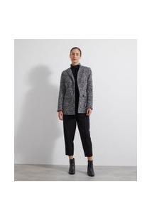 Blazer Alfaiataria Alongado Tweed | Cortelle | Cinza | Gg