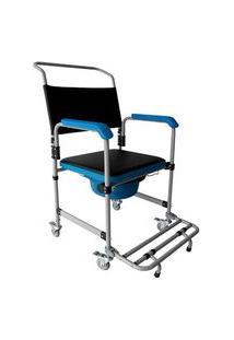 Cadeira De Banho Higienica Dobravel Aço 150 Kg Dellamed D50