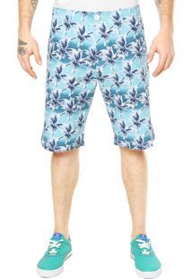 Bermuda Rockstter Coqueiro Azul