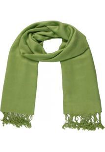 Xale- Pashmina- Visc Lisa 150Gr - 10 Verde Claro