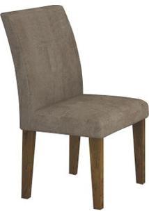 Cadeira Olímpia 2 Peças - Canela Com Animale Capuccino