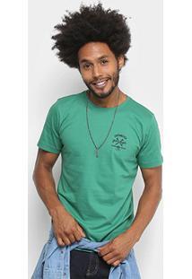 Camiseta Dimy Garage Estampada Masculina - Masculino-Verde