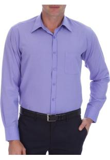 Camisa Social Masculina Lilás Lisa - 03
