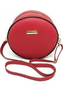 Bolsa Redonda Feminina Lisa Mini Bag Transversal - Vermelho - Feminino - Dafiti