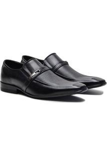 Sapato Social Couro Pórtice Fivela Masculino - Masculino-Preto