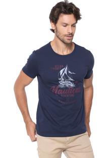 Camiseta Malwee Nautical Azul-Marinho