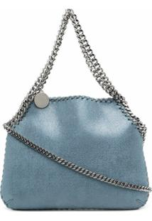 Stella Mccartney Small Falabella Chain-Trim Shoulder Bag - Azul