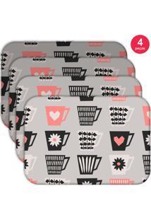 Jogo Americano Love Decor Wevans Xícaras Love Kit Com 4 Pçs