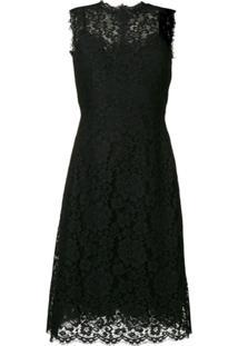 Dolce & Gabbana Vestido De Renda - Preto