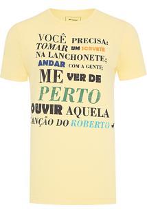 Camiseta Masculina Roberto - Amarelo