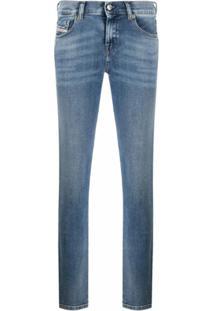 Diesel Calça Jeans Reta Sandy - Azul