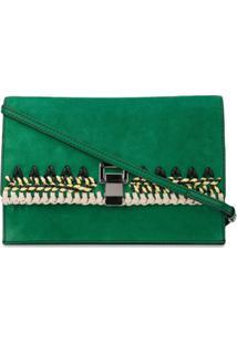 Proenza Schouler Lancheira Pequena De Crochê E Camurça - Verde