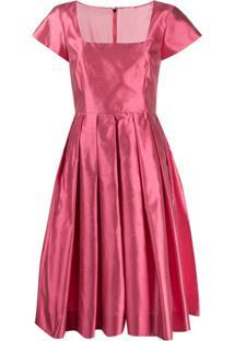 Dolce & Gabbana Vestido Decote Quadrado Rosa
