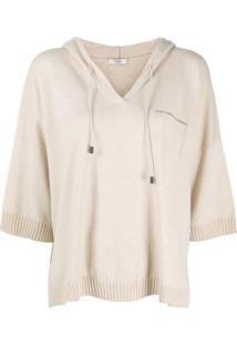 Peserico Blusa De Tricô Com Capuz - Neutro