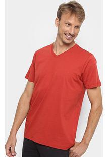 Camiseta Forum Básica Masculina - Masculino-Vermelho