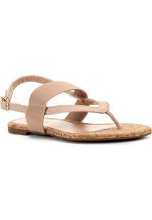 Rasteira Shoestock Double Elastic - Feminino-Nude