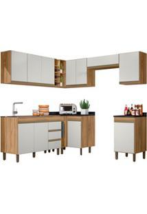 Cozinha Modulada Karen 10 Módulos 5600 P14 Nature/Off White - Mpozenat
