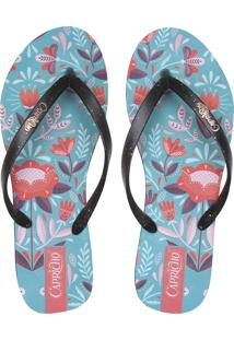 Chinelo Capricho Vector Flower Azul