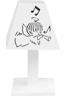 Abajur Corneta Mdf - Branco - Clássicos