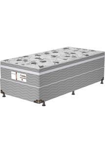 Cama Box Solteiro Evolution Plw Euro – Probel - Branco / Cinza