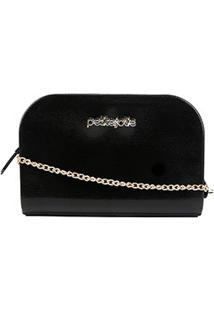 Bolsa Petite Jolie Mini Bag Pretty Alça Corrente Feminina - Feminino-Preto