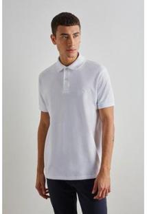 Camisa Polo Reserva Básica Masculino - Masculino-Branco