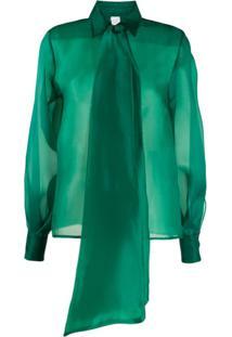 Ultràchic Oversized Bow Blouse - Verde