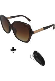 Oculos De Sol Volpz Com Suporte Veicular - Kanui