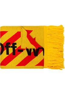 Off-White Cachecol Com Logo - Amarelo
