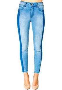 cbbf1d5c9 Occhi Azzurri. Calça Jeans Skinny Flexível Zíper Feminina Colcci ...