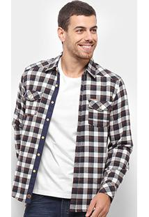 Camisa Gangster Flanela Xadrez Masculina - Masculino