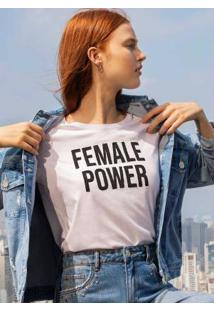 Blusa Branca Female Power